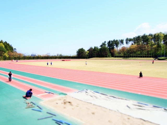 陸上競技場画像